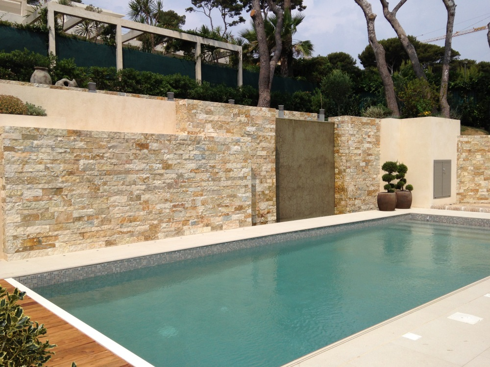 Pierre naturelle nice antibes parement dallage age de - Pierre naturelle pour piscine ...